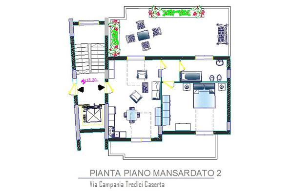 Appartamento mansardato a Caserta Tredici